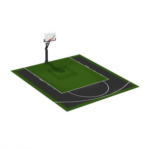 Demi-terrain de Basketball 6 x 6 M | Couleur(s) au choix