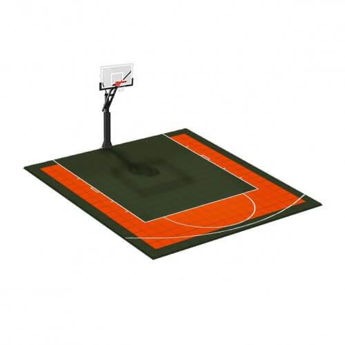 Demi-terrain de Basketball 5×5 M | Couleur(s) au choix