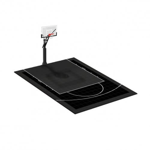Demi-terrain de Basketball 5 x 4 M | Couleur(s) au choix