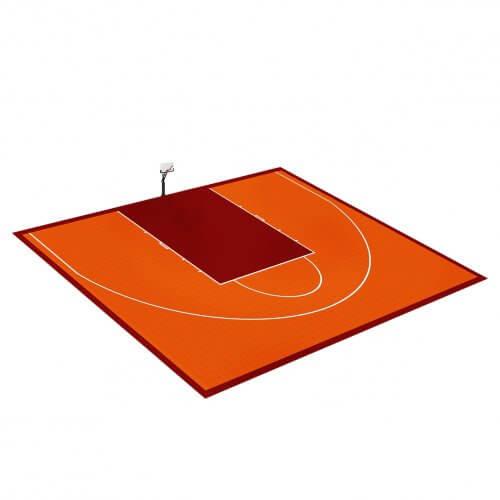 Demi-terrain de Basketball 10 x 14 M | Couleur(s) au choix