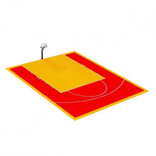 Demi-terrain de Basketball 9 x 8 M | Couleur(s) au choix