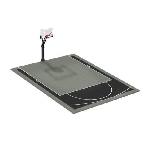 Terrain-basket-6x5 m gris-noir