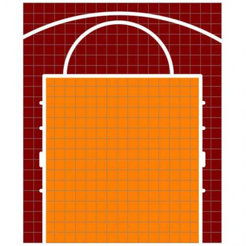 Terrain de Basketball - Plan 2D - Terrain-basket.fr - 6x5 m