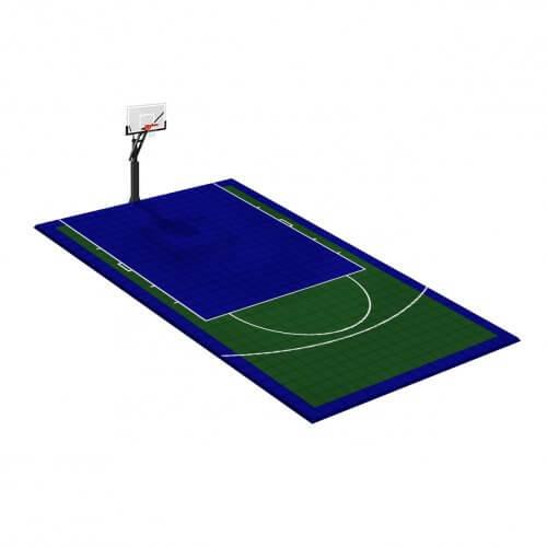 Demi-terrain de Basketball 8 x 5 M | Couleur(s) au choix