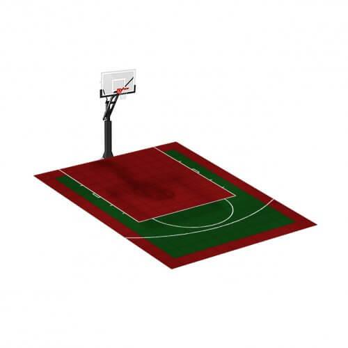 Demi-terrain de Basketball 4 x 3 M | Couleur(s) au choix