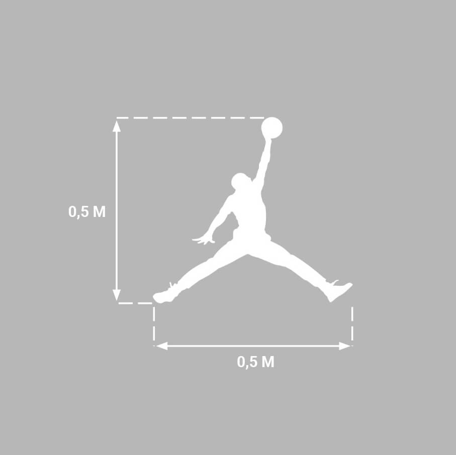 Logo Jordan (0,5 x 0,5 M)