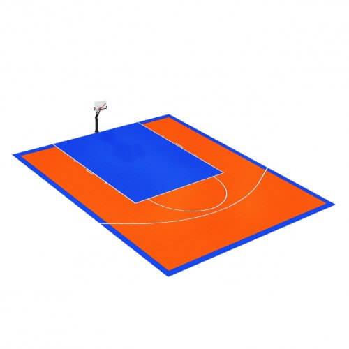 Demi-terrain de Basketball 10 x 9 M | Couleur(s) au choix