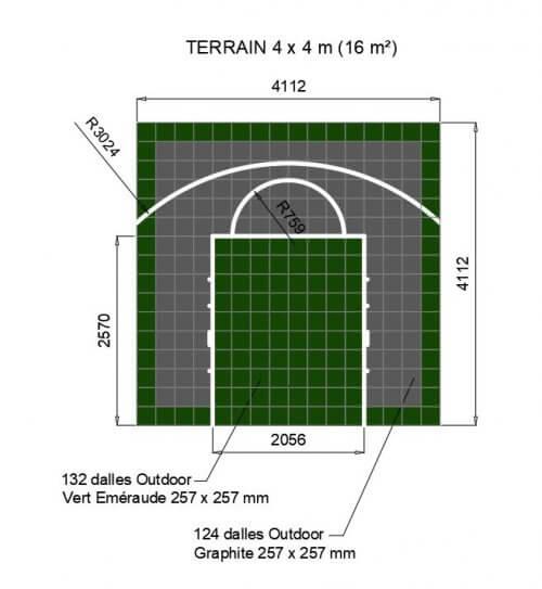 Plan terrain basket 4x4 Vert E et Graphite