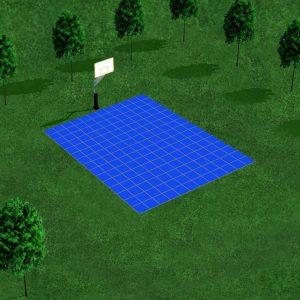 Plan Dalles Terrains 3D - Déstockage - Bleu Roi - 4x3