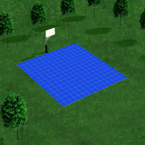 [Déstockage] Demi-terrain de Basketball 4 x 4 M | Bleu Roi