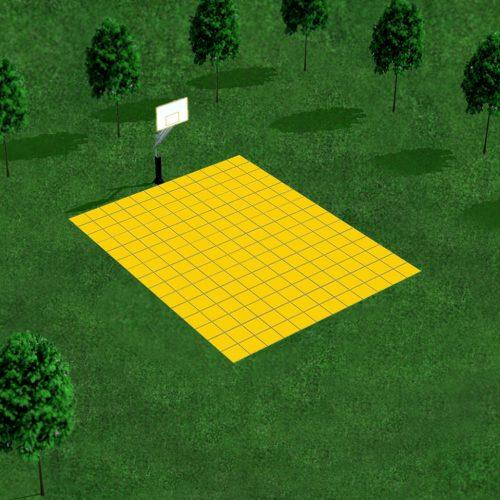 [Déstockage] Demi-terrain de Basketball 4 x 3 M | Jaune