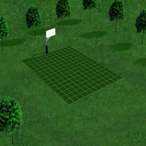 [Déstockage] Demi-terrain de Basketball 4 x 3 M | Vert Emeraude