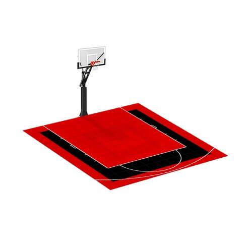 Demi-terrain de Basketball 3 x 3 M | Couleur(s) au choix