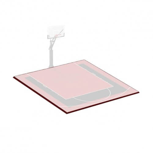 Kit bordures de finition – Terrain de Basket 3 x 3 M – Coloris Noir