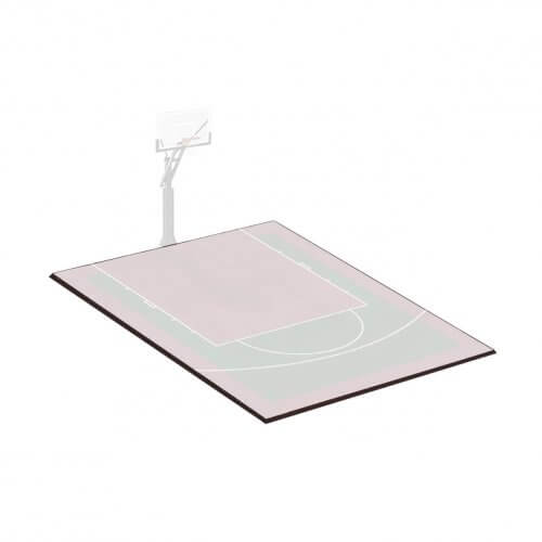 Kit bordures de finition – Terrain de Basket 4 x 3 M – Coloris Noir