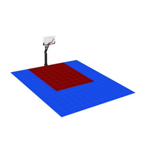 [Déstockage] Demi-terrain de Basketball 4×3 M | Bleu Roi et Bordeaux