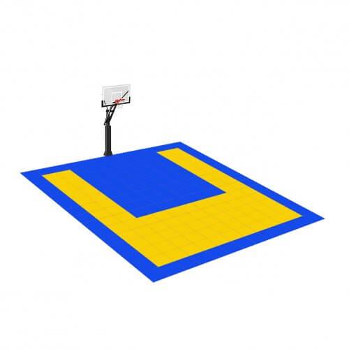 [Déstockage] Demi-terrain de Basketball 4×3 M |  Jaune et Bleu roi