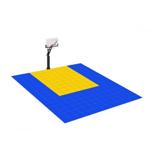 [Déstockage] Demi-terrain de Basketball 4×3 M | Bleu Roi et Jaune