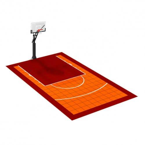Demi-terrain de Basketball 3 x 5 M | Couleur(s) au choix