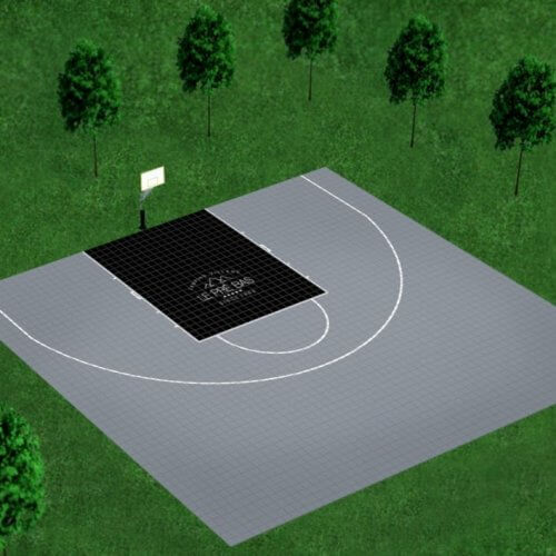 Kit bordures de finition – Terrain de Basket 13 x 15 M – Coloris Noir