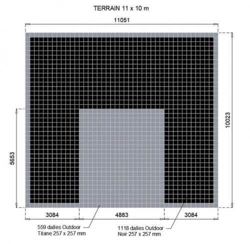 Plan 11x10 Titane et Noir sans Marquage