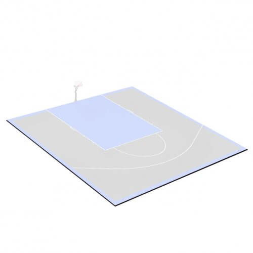 Kit bordures de finition – Terrain de Basket 10 x 10 M – Coloris Noir
