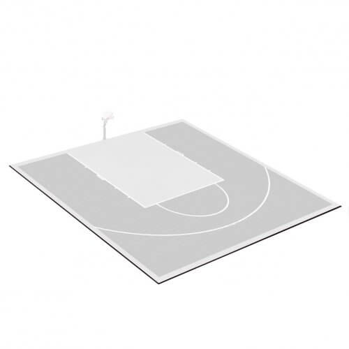 Kit bordures de finition – Terrain de Basket 10 x 11 M – Coloris Noir