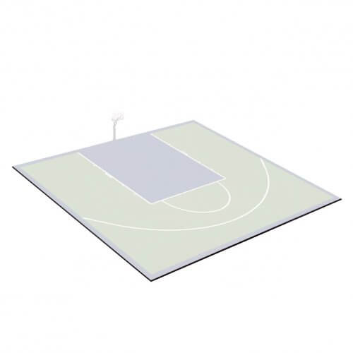 Kit bordures de finition – Terrain de Basket 10 x 12 M – Coloris Noir