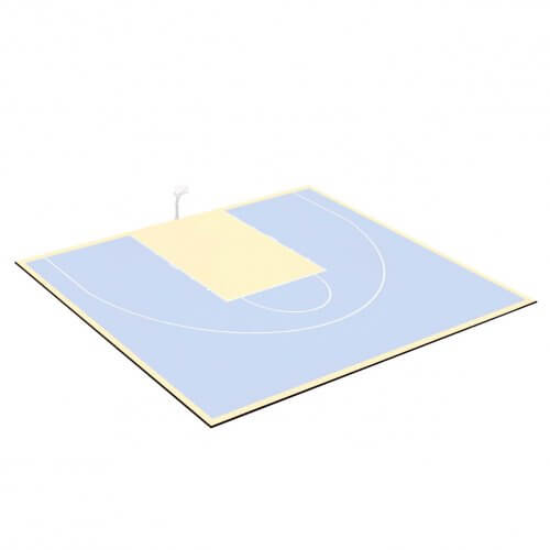 Kit bordures de finition – Terrain de Basket 15 x 11 M – Coloris Noir