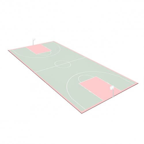 Kit bordures de finition – Terrain de Basket 28 x 15 M – Coloris Noir