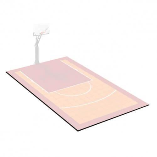 Kit bordures de finition – Terrain de Basket 3 x 5 M – Coloris Noir