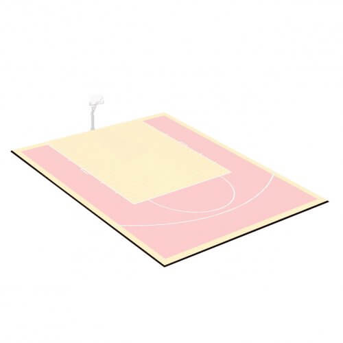 Kit bordures de finition – Terrain de Basket 9 x 8 M – Coloris Noir