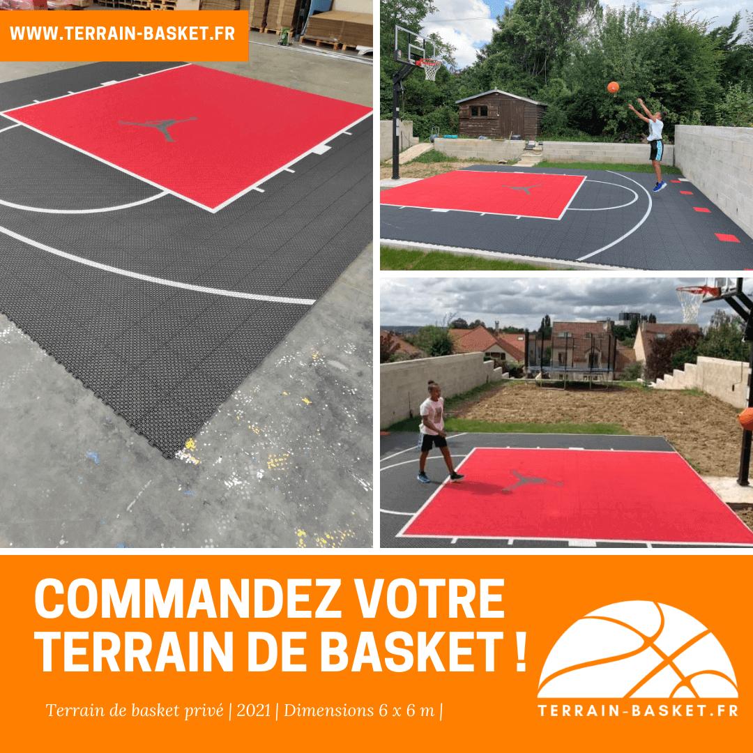 Installation d'un terrain de basket dans un jardin