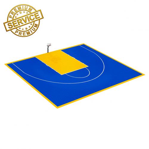 Terrain de Basketball 15m x 11m | Couleur(s) au choix | Livraison et installation comprise