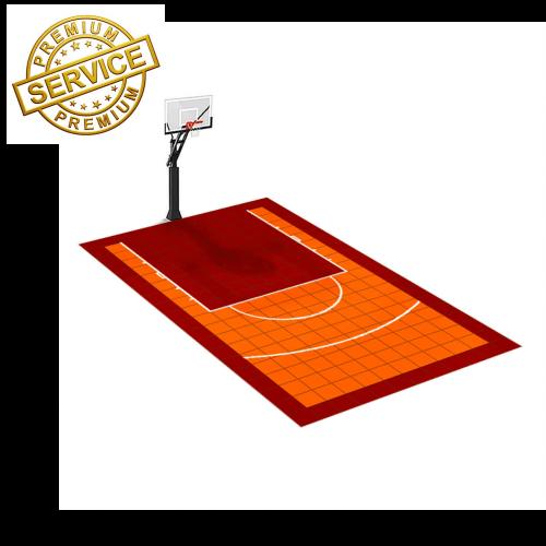Terrain de basketball 3m x 5m | Couleur(s) au choix | Livraison et installation comprise