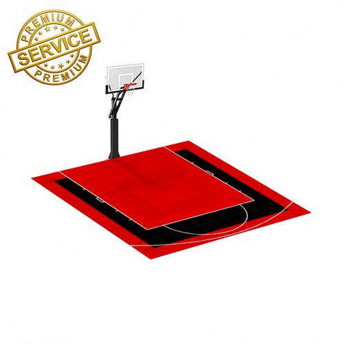Terrain de Basketball 3m x 3m | Couleur(s) au choix | Livraison et installation comprise