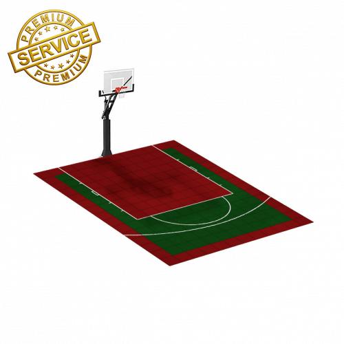 Terrain de Basketball 4m x 3m | Couleur(s) au choix | Livraison et installation comprise