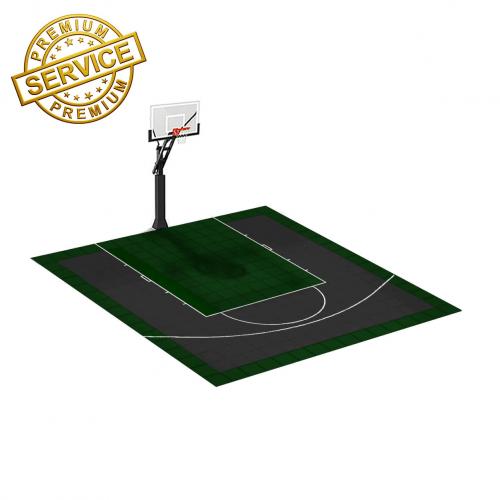 Terrain de Basketball 4m x 4m   Couleur(s) au choix   Livraison et installation comprise