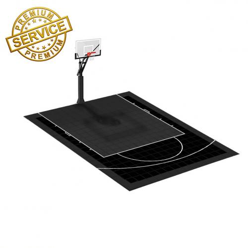 Terrain de Basketball 5m x 4m | Couleur(s) au choix | Livraison et installation comprise