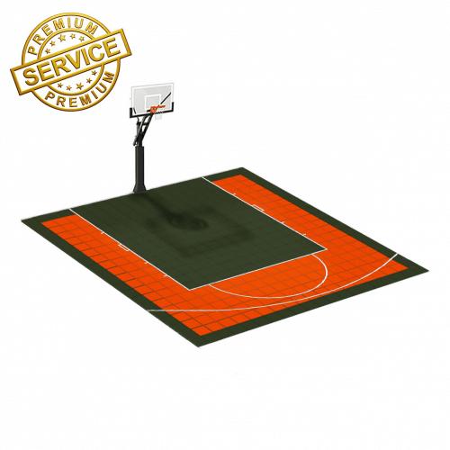 Terrain de basketball 5m x 5m   Couleur(s) au choix   Livraison et installation comprise
