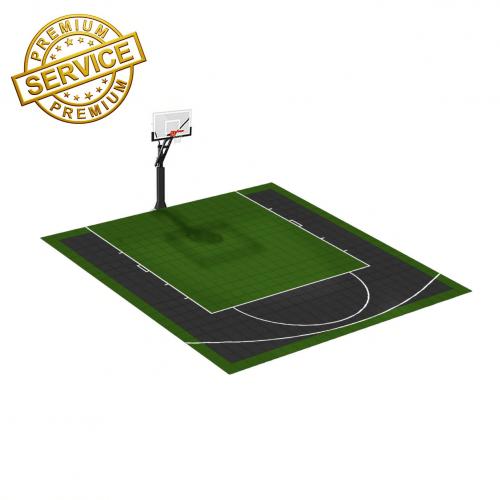 Terrain de basketball 6m x 6m | Couleur(s) au choix | Livraison et installation comprise