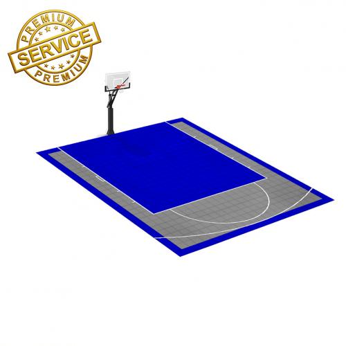 Terrain de Basketball 6m x 7m | Couleur(s) au choix | Livraison et installation comprise
