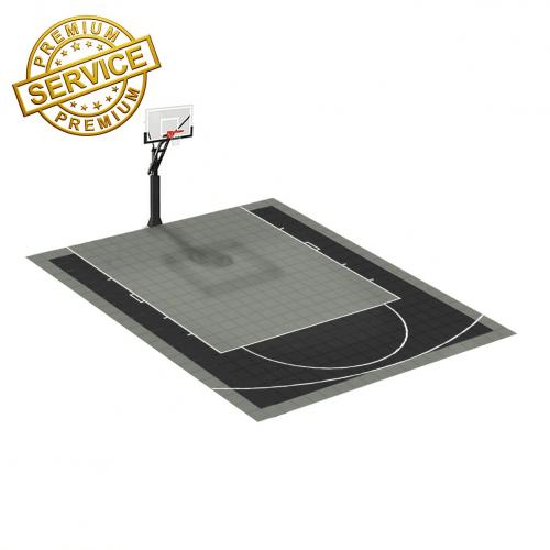 Terrain de basketball 6m x 5m   Couleur(s) au choix   Livraison et installation comprise