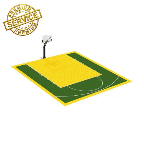 Terrain de Basketball 7m x 7m   Couleur(s) au choix   Livraison et installation comprise