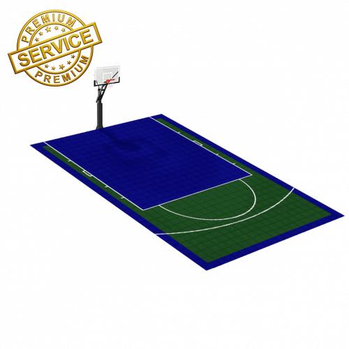 Terrain de basketball 8m x 5m   Couleur(s) au choix   Livraison et installation comprise