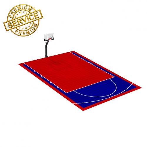 Terrain de Basketball 8m x 6m | Couleur(s) au choix | Livraison et installation comprise