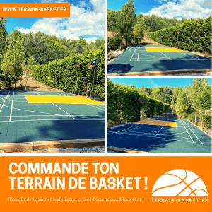 Terrain basket-badminton