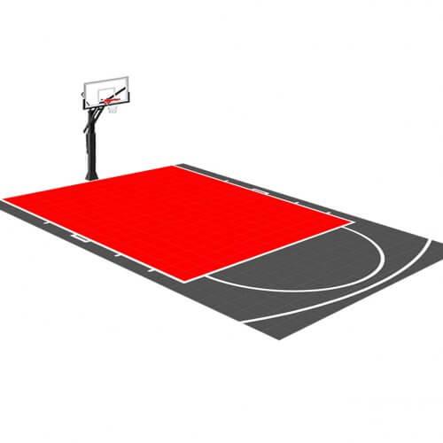 Demi-terrain de Basketball 4 x 6 M | Couleur(s) au choix